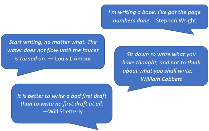 Quotes on Getting Started Writing 1