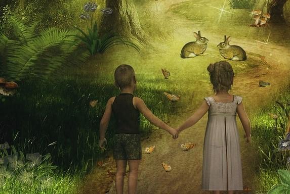 forest_children rabbits deer-1967253_960_720_pixabay_cropped